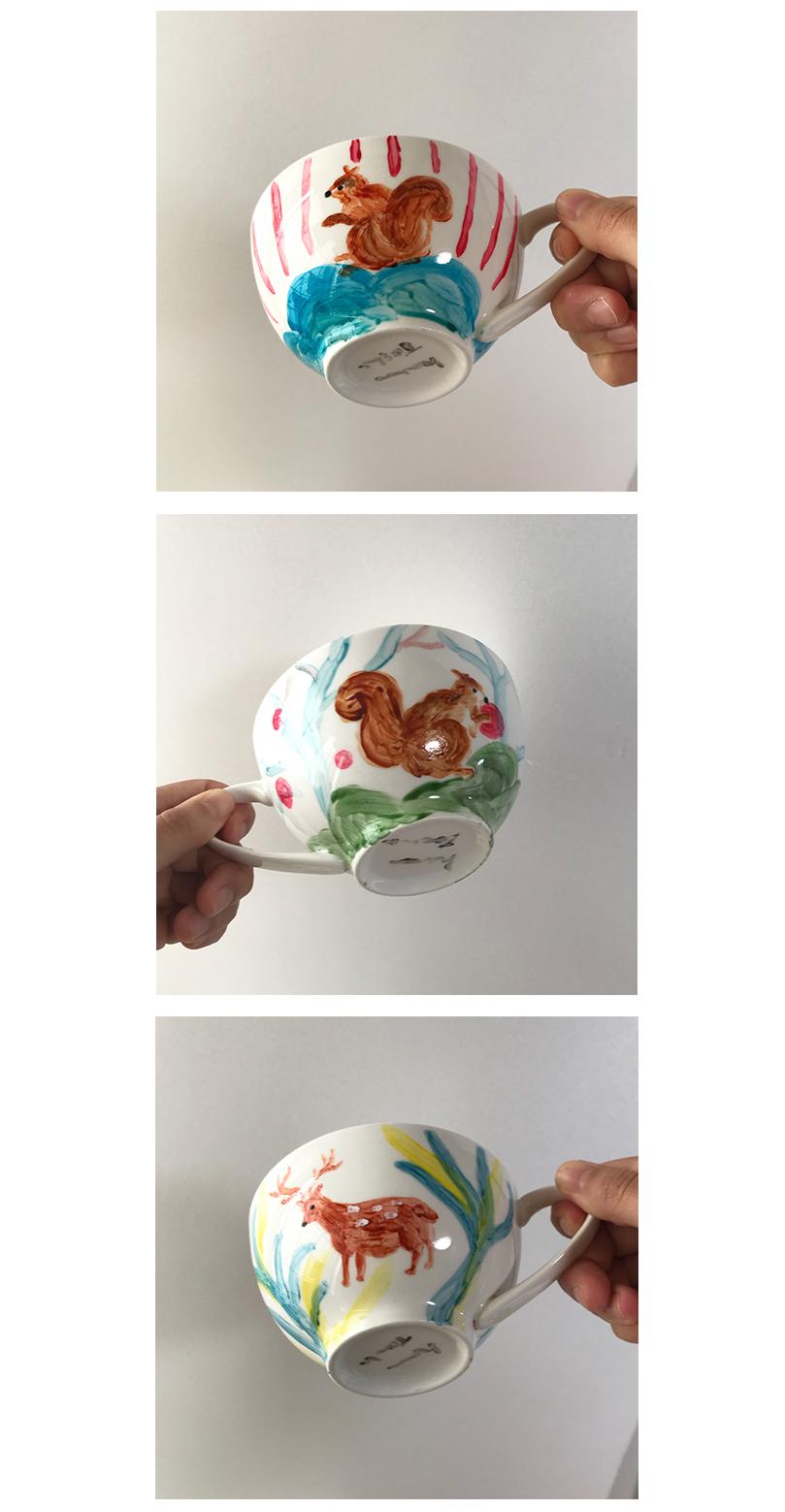 陶器ペイント りすのマグカップ