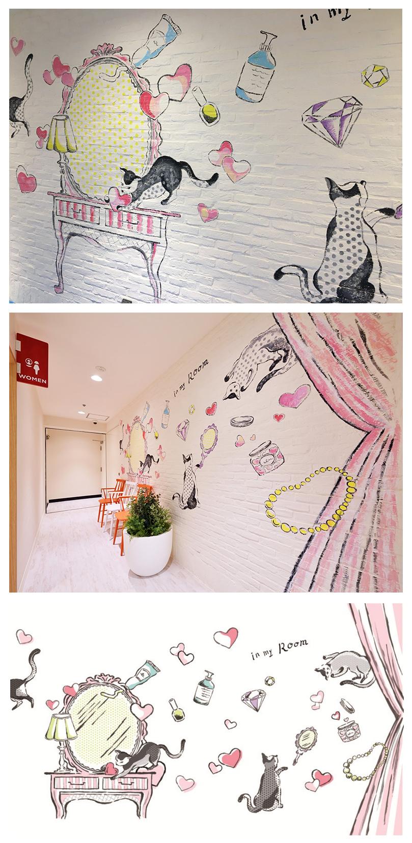 静岡東急スクエア壁面イラスト