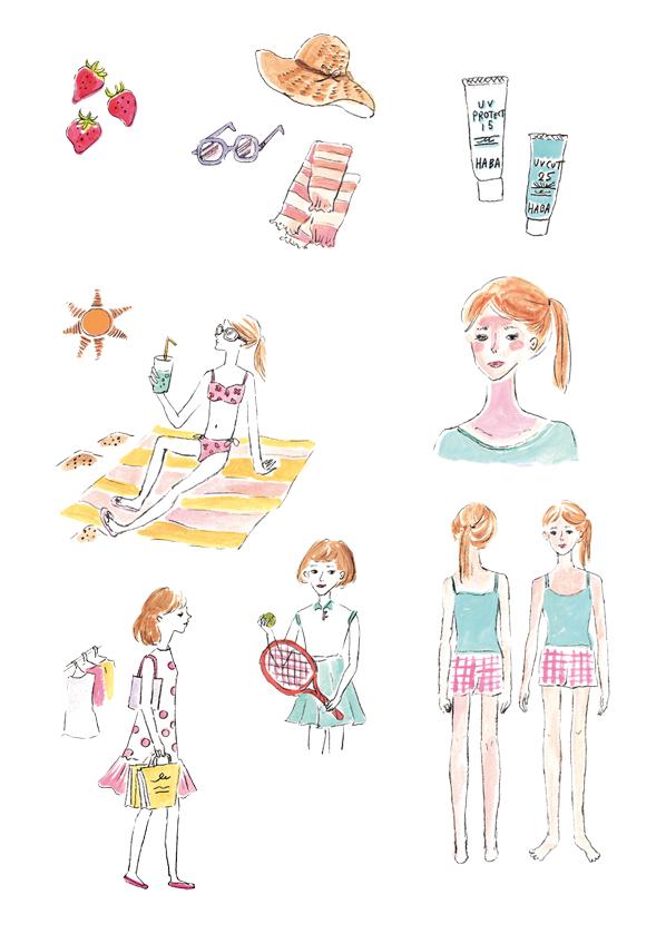 HABA会報誌「無添加通信」イラストレーション
