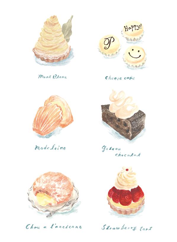 パティスリーピネード ケーキのイラスト