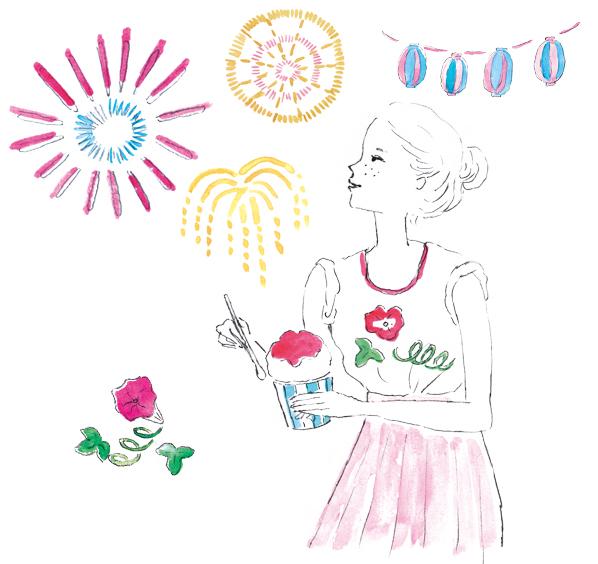 metropolitana「働くオンナの救Q箱」夏冷えがテーマのイラスト