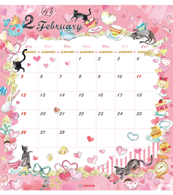 TOYOTA 2017年度カレンダー 2月