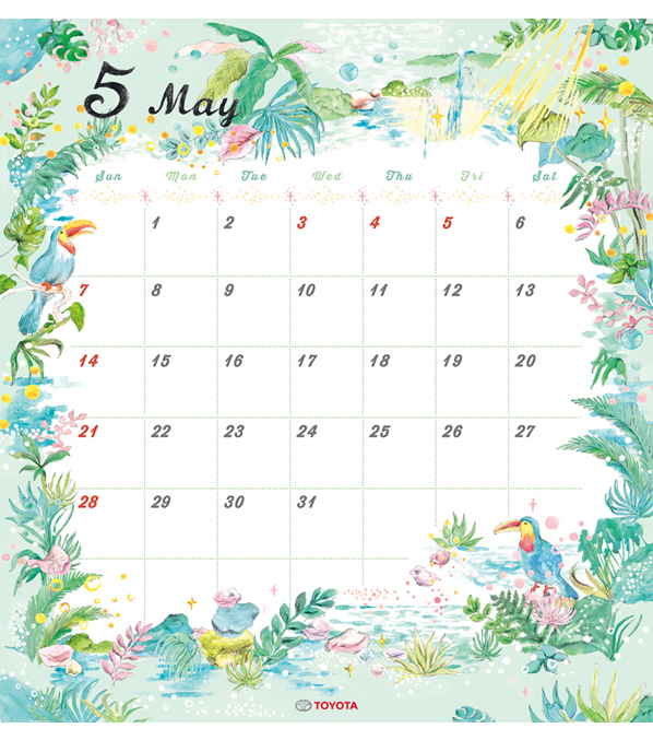 TOYOTA 2017年度カレンダー 5月