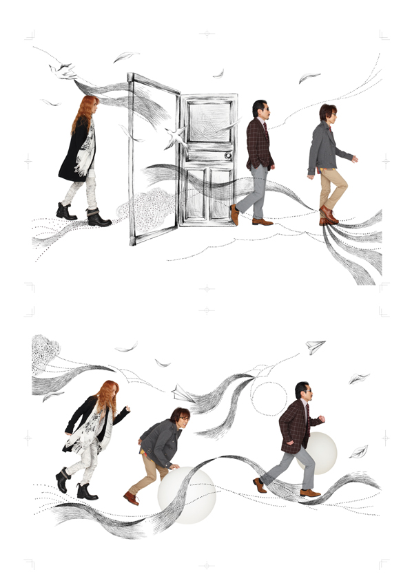 THE ALFEE ツアーパンフレット イラストレーション