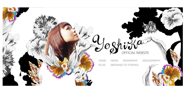 YOSHIKA official website デザイン