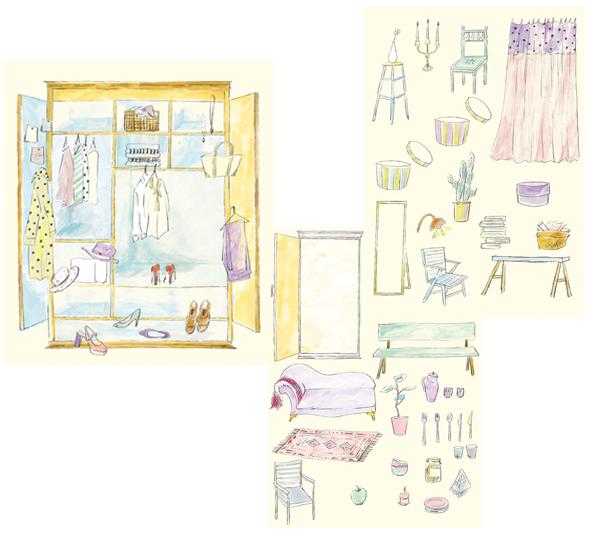 ルミネ有楽町 フリーペーパー「LUMINE YURAKUCHO STYLE」 3月号イラストレーション