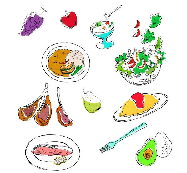 anan PLUS「キレイなカラダになる食べ方」Mook イラストレーション