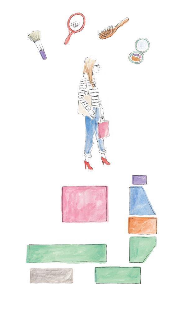 """阪急うめだ本店 """"ネクストビューティー"""" 冊子「DOOR」イラストレーション"""