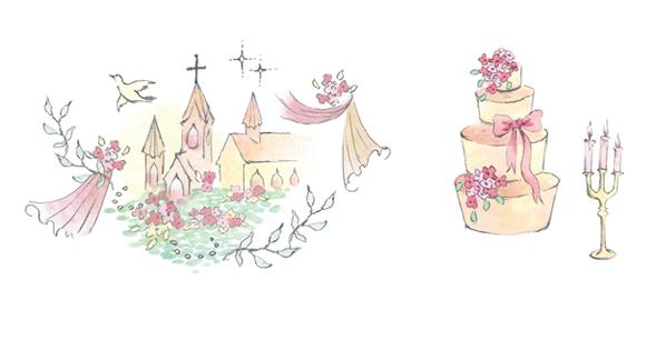 ゼクシィ 2012年4月イラストレーション