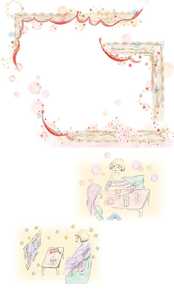 anan no.1799 「鏡リュウジ ×サントリー 絹の贅沢」ページ イラストレーション