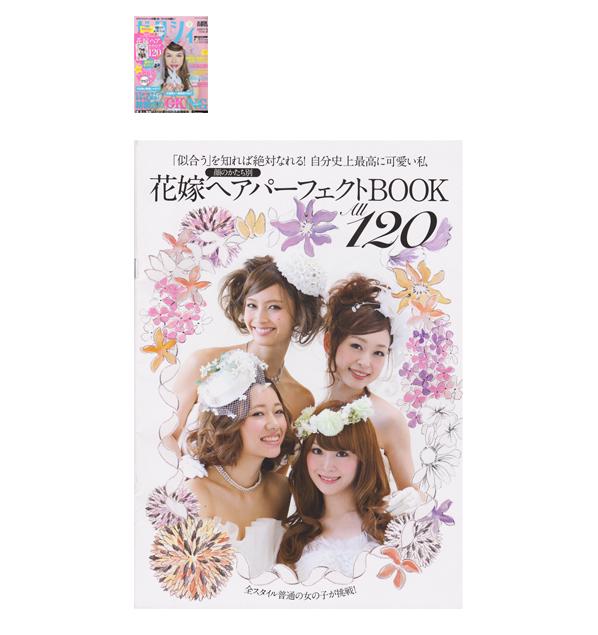 ゼクシィ 2013年3月号付録 花嫁ヘアパーフェクトBOOK イラストレーション