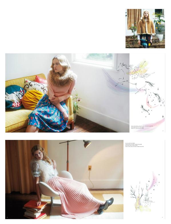 SHIPS Khaju / 2011 Fall & winter  カタログイラストレーション